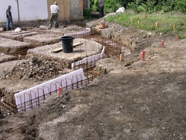 extention footings foundations prepared